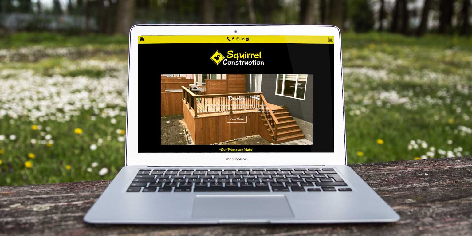 Squirrel Construction   Web Development   Web Design